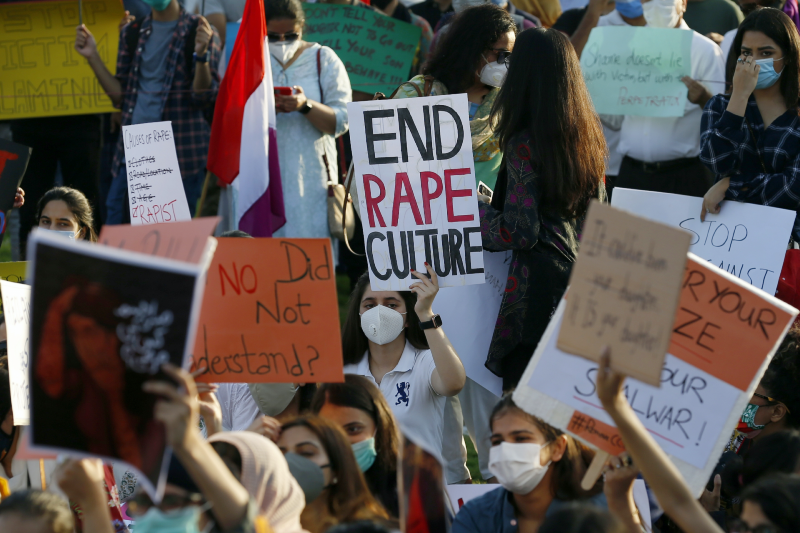 Main image: Protest against rape in Lahore (Anjum Naveed/AP)