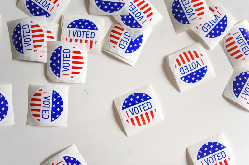 'I voted' stickers (Unsplash)