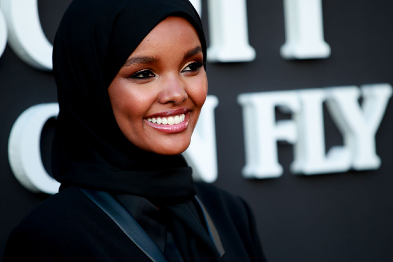 Halima Aden attends a premiere (Getty Images/Rich Fury)