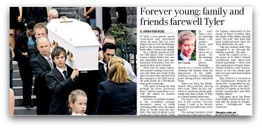 Forever young: family and friends farewell Tyler