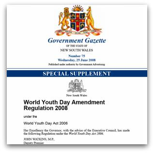 World Youth Day Amendment