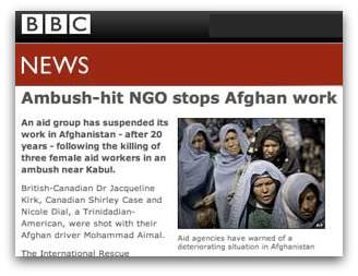 Ambush-hit NGO stops Afghan work