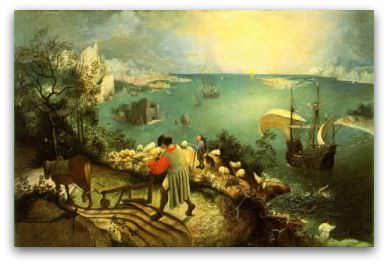 Brueghel - the Fall of Icarus