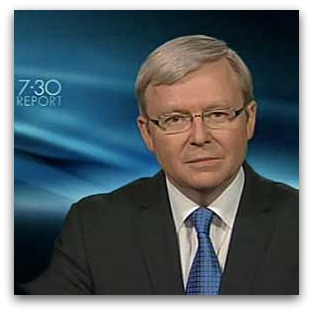 Kevin Rudd on 7:30 Report