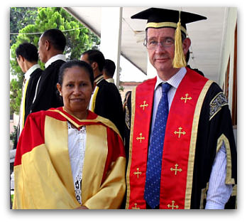 Dr Isabel Guterres and Professor Greg Craven