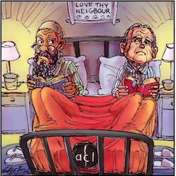 'In bed with Fred Nile' by Chris Johnston