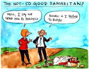 'The not so good Samaritans', by Fiona Katauskas