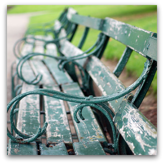 Park benches, Flickr image by incurable_hippie
