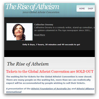 The Rise of Atheism: 2010 Global Atheist Coenvention