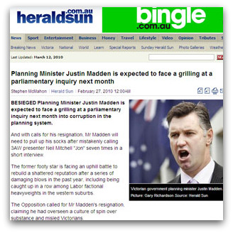 Justin Madden in The Herald Sun