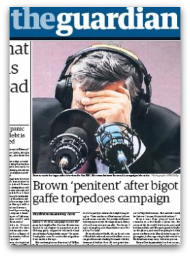 Gordon Brown's 'bigot' gaffe