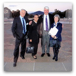 The National Human Rights Consultation Committee, Mick Palmer, Tammy Williams, Frank Brennan and Mary Kostakidis