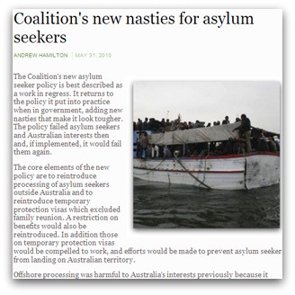 'Coalition's new nasties for asylum seekers', by Andrew Hamilton