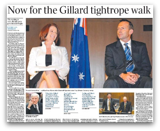 Now for the Gillard tightrope walk