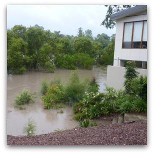 Brisbane flood lapping at the door