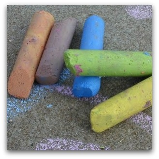 Coloured chalk