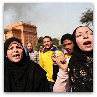 Women protesters in Egypt