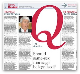 Frank Brennan article from the Sydney Morning Herald