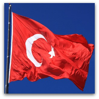 Turkish flag crumpled