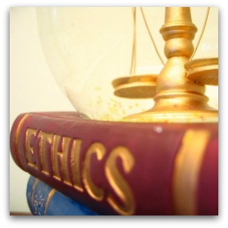 Ethics book and scales