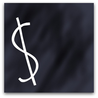 Blackboard dollar sign