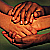 Kind hands clasped