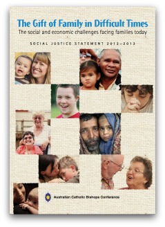 Cover from the 2012 Catholic Social justice statement on the family