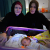 Donna Mulhearn with a mother and baby at Fallujah Hospital