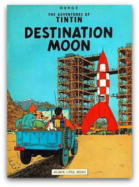 'The Adventures of Tintin: Destination Moon' book cover