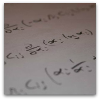 Maths problem scribbled on paper
