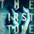 Hand holding a stone, with words superimposed: 'The First Stone'. Detail from the cover of a book by Helen Garner