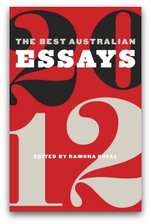 'Best Australian Essays 2012' book cover