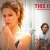 Leslie Mann brushes her teeth, Paul Rudd sits on the toilet with an iPad. Movie poster from This Is 40