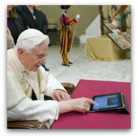 Pope using an iPad