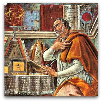 Saint Augustine in His Study by Sandro Botticelli, 1480