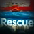 Capsized boat and captions that says 'Rescue'