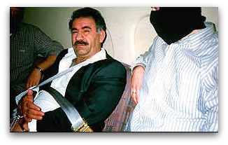 Ocalan in manacles