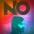 'No' movie poster; paranoid-looking man looks over his shoulder, word 'No' is emblazoned above his head