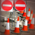 Witches hats mark road works