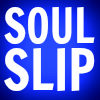 Soul Slip, white text on purple-blue background