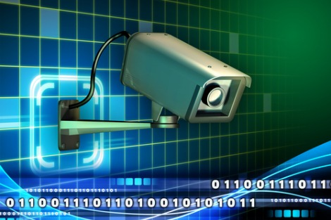 Security camera 'spies' on binary code