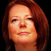 Julia Gillard looks reflective