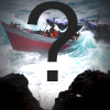 Image of asylum seeker boat with a question mark