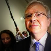 Kevin Rudd looking determined