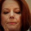 Julia Gillard looking downcast
