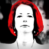Julia Gillard looks stern and resolved on the cover of Kerry-Anne Walsh's book 'The Stalking of Julia Gillard'