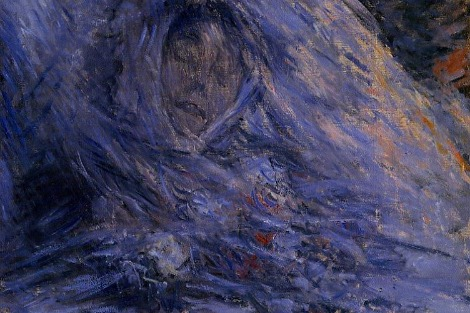 An impressionistic portrait of Jean Monet on her deathbed