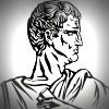 Line drawing of Cicero in profile