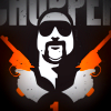 Artistic depiction of Mark Brandon 'Chopper' Read with pistols crossed