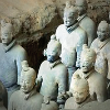 The terracotta warriors entombed in Emperor Qin's mausoleum